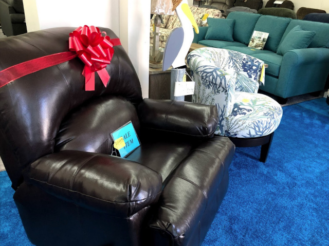 Faux Leather Recliner $199!